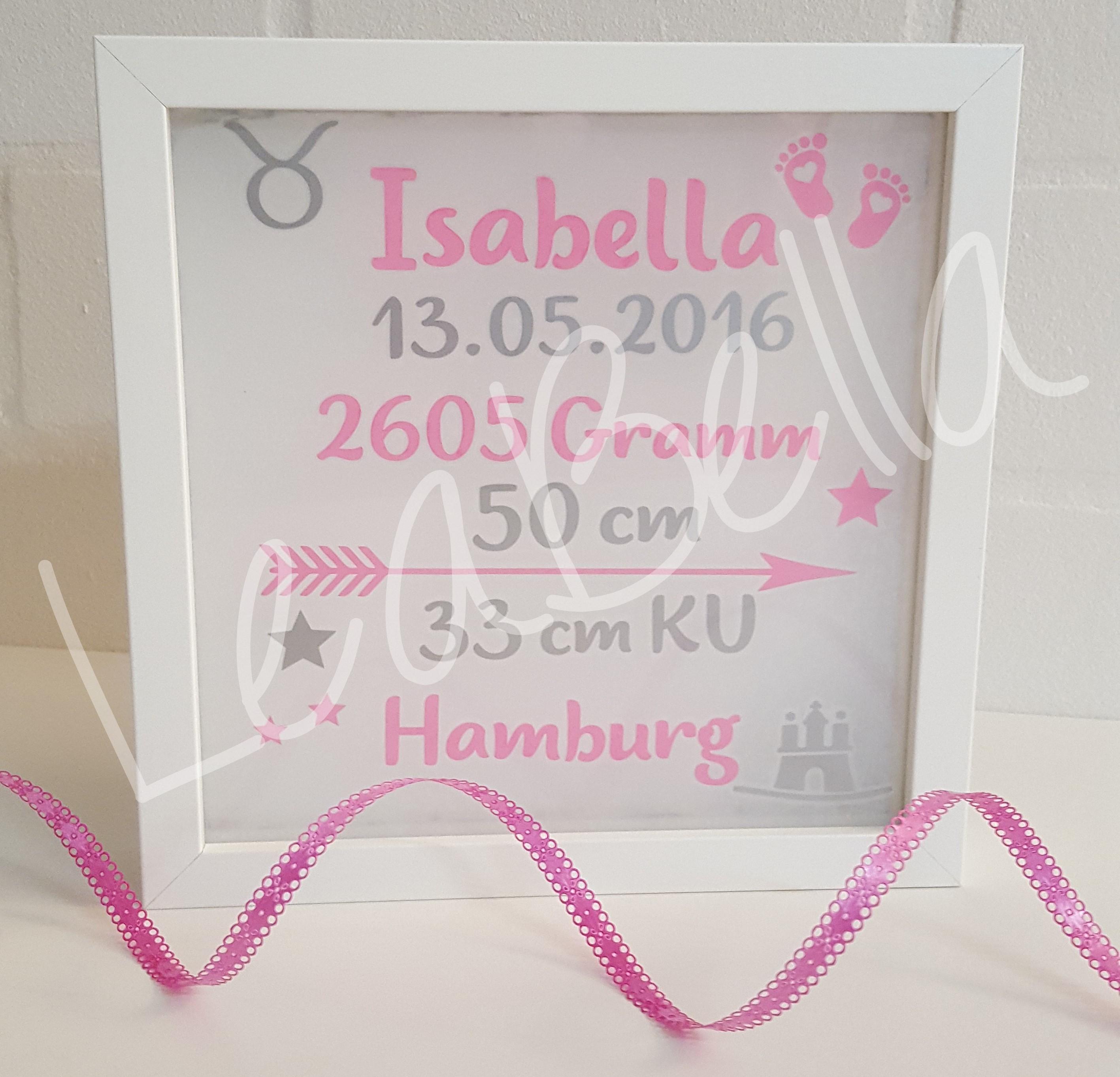 Geburtsrahmen kaufen - LeaBella - Handgemacht in BielefeldLeaBella ...