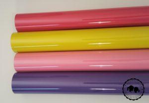 Flexfolie: Dunkel Pink, Gelb, Rosa, Violett