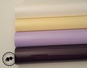 Flexfolien: Weiß, Beige, Violett, Aubergine