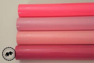 Felxfolie: Neon Pink, Magenta, Baby Pink